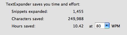 TextExpander saved me time
