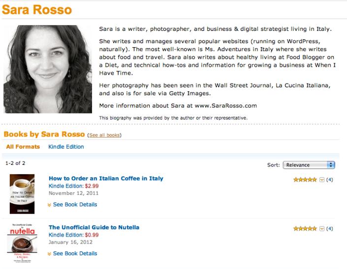 Sara Rosso's Amazon Author Page