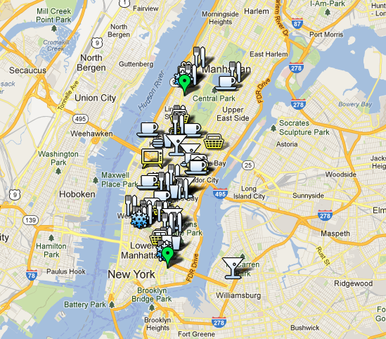 My custom Google Maps - New York by Sara Rosso