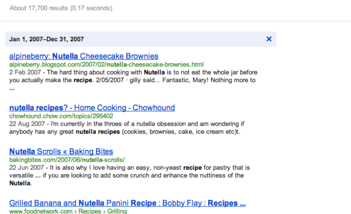 Nutellarecipes_GoogleResults_2007